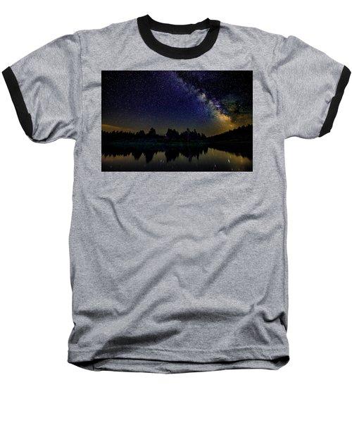 Milky Way Over The Deschutes River - 2 Baseball T-Shirt