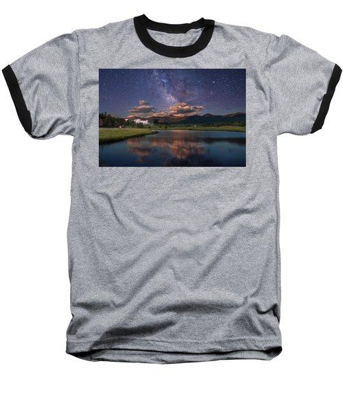 Milky Way Over The Omni Mount Washington Baseball T-Shirt