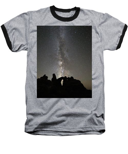 Milky Way Over Turret Arch Baseball T-Shirt