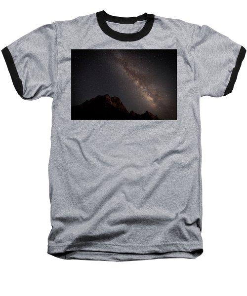 Milky Way Over Zion Baseball T-Shirt