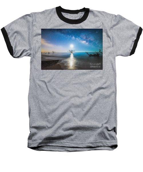 Milky Way Shore Baseball T-Shirt by Robert Loe