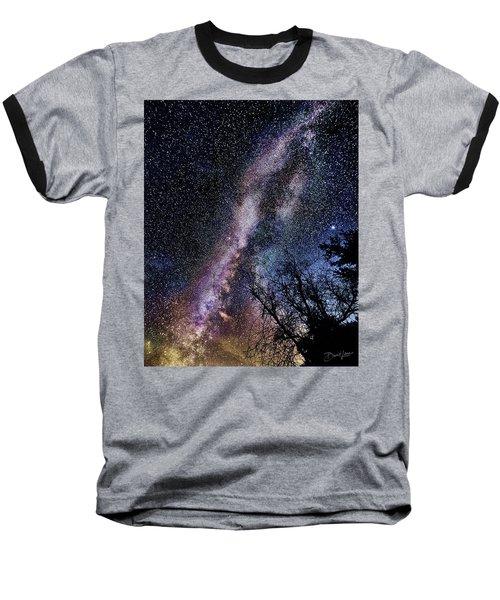Milky Way Splendor Baseball T-Shirt