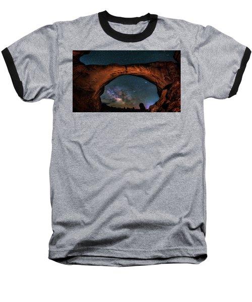 Milky Way Under The Arch Baseball T-Shirt