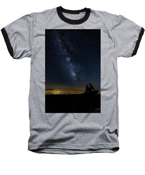 Milky Way Viewed From Rough Ridge Baseball T-Shirt