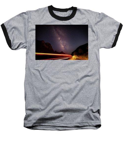 Milkyway Over The Higway Baseball T-Shirt