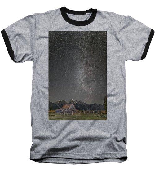 Baseball T-Shirt featuring the photograph Milkyway Over The John Moulton Barn by Roman Kurywczak