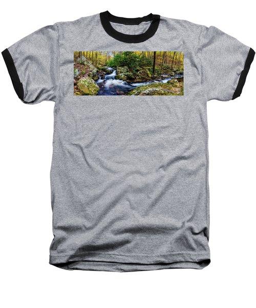 Mill Creek In Fall #4 Baseball T-Shirt