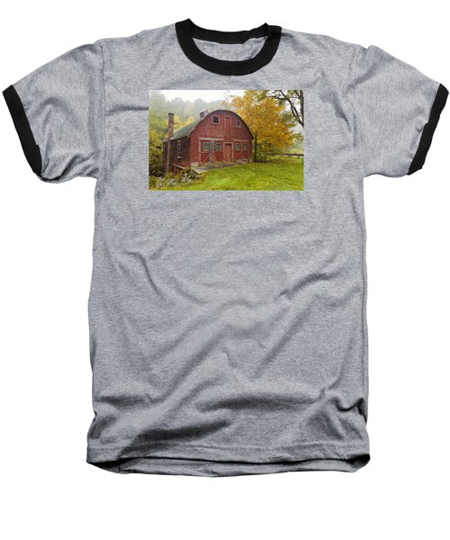 Baseball T-Shirt featuring the photograph Mill In Autumn by Tom Singleton