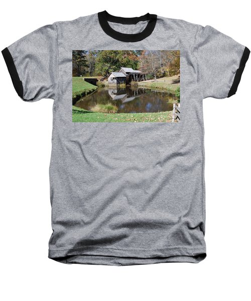 Baseball T-Shirt featuring the photograph Mill Reflections by Eric Liller
