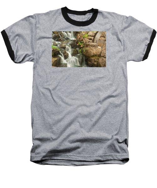 Mill Wheel With Waterfall Baseball T-Shirt