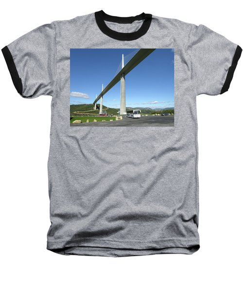Baseball T-Shirt featuring the photograph Millau Viaduct by Jim Mathis