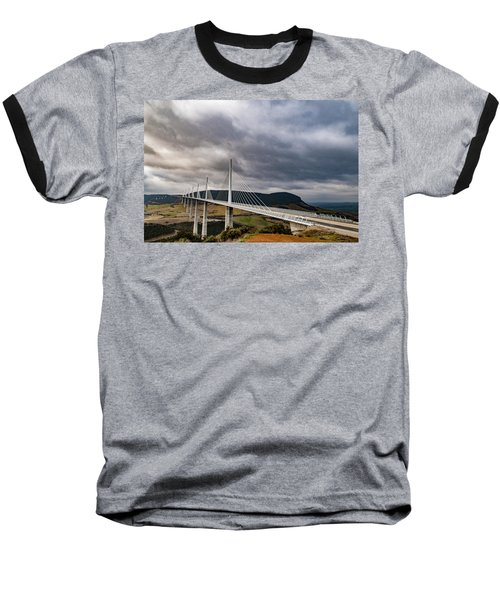Millau Viaduct Baseball T-Shirt