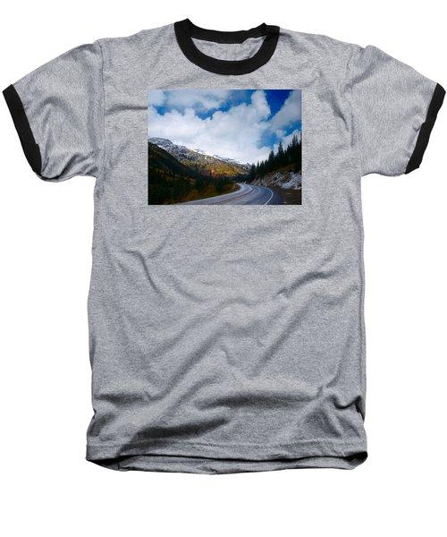 Baseball T-Shirt featuring the photograph Million Dollar Highway by Laura Ragland