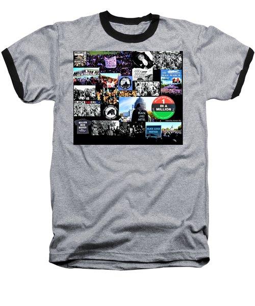 Million Man March Montage Baseball T-Shirt