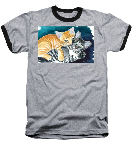 Milo And Tigger - Cute Kitty Painting Baseball T-Shirt
