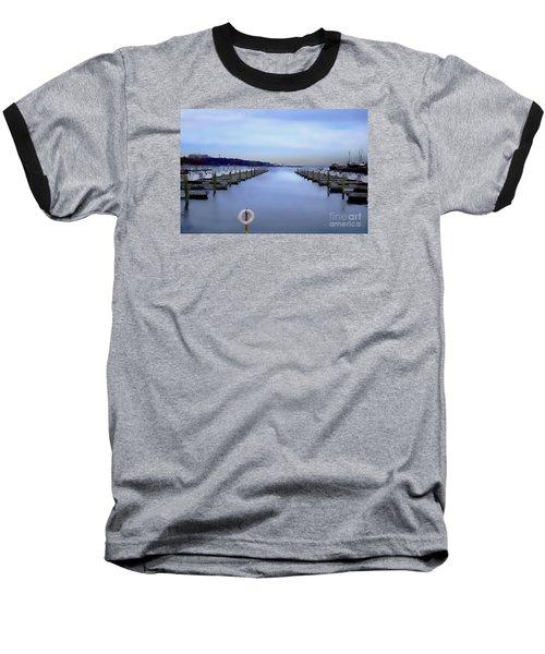 Milwaukee Marina November 2015 Baseball T-Shirt by David Blank