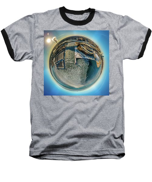 Milwaukee Pierhead Light Little Planet Baseball T-Shirt