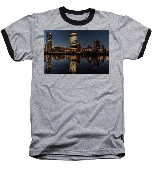 Baseball T-Shirt featuring the photograph Milwaukee Reflections by Randy Scherkenbach