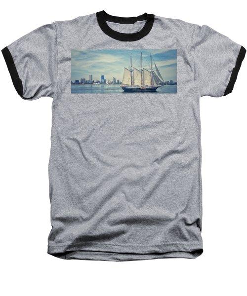 Milwaukee Schooner Baseball T-Shirt by Nikki McInnes