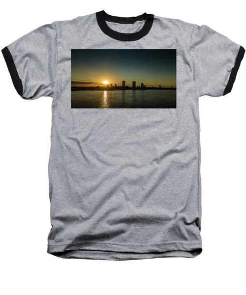 Baseball T-Shirt featuring the photograph Milwaukee Sunset by Randy Scherkenbach
