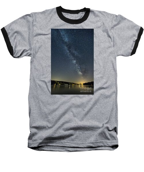 Milky Way From A Pontoon Boat Baseball T-Shirt by Patrick Fennell