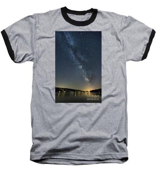 Milky Way From A Pontoon Boat Baseball T-Shirt