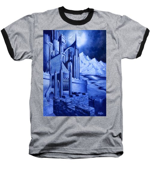 Minas Tirith Baseball T-Shirt by Curtiss Shaffer