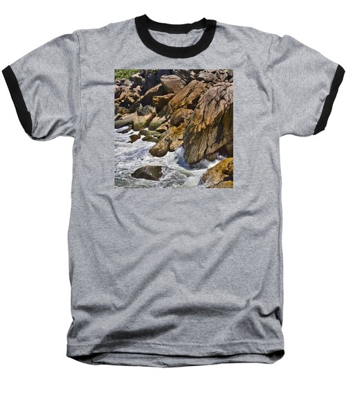 Brazilian Sea Cliffs - Guaruja - Sao Paulo Baseball T-Shirt