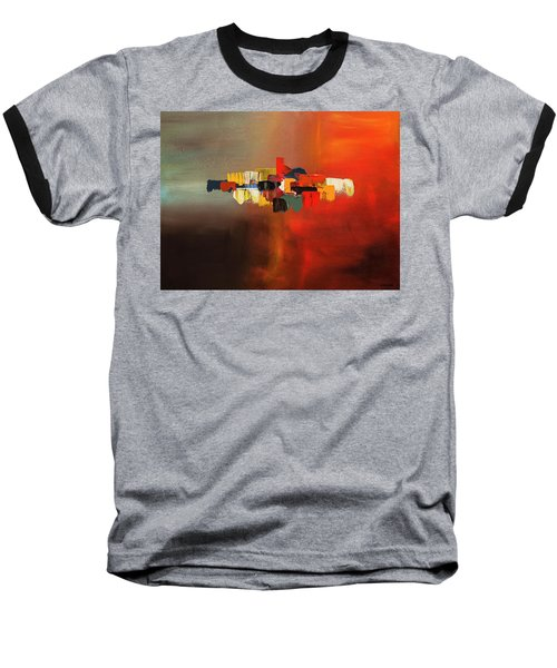 Baseball T-Shirt featuring the painting Mindful - Abstract Art by Carmen Guedez
