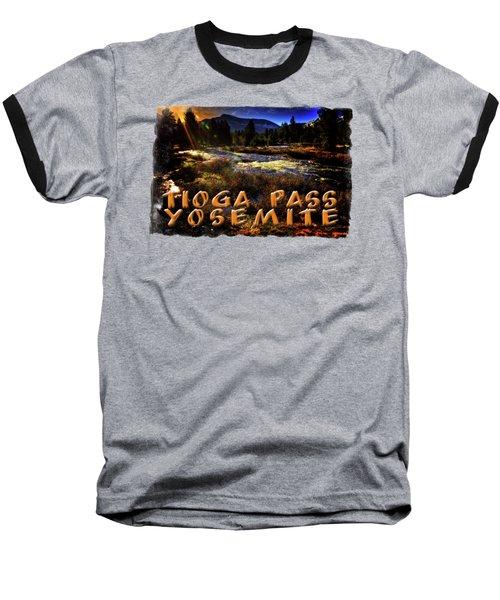 Mine Creek Between Lakes Ellery And Tioga Baseball T-Shirt