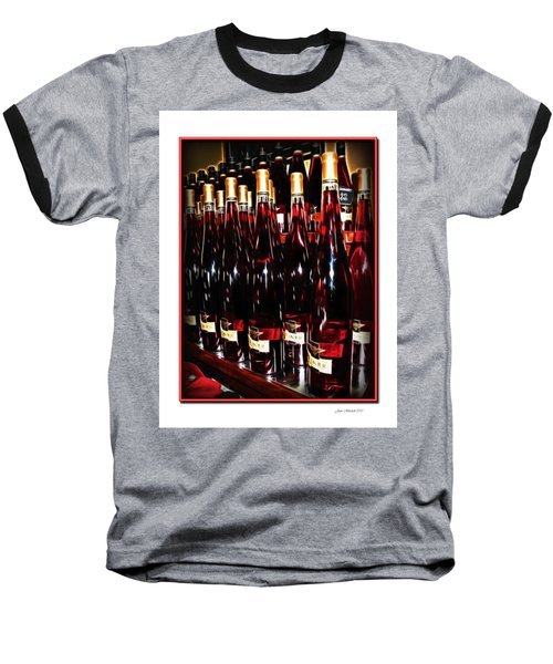 Baseball T-Shirt featuring the photograph Miner Pink Sparkling Wine by Joan  Minchak