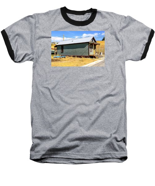 Miners Shack In Montana Baseball T-Shirt by Chris Smith