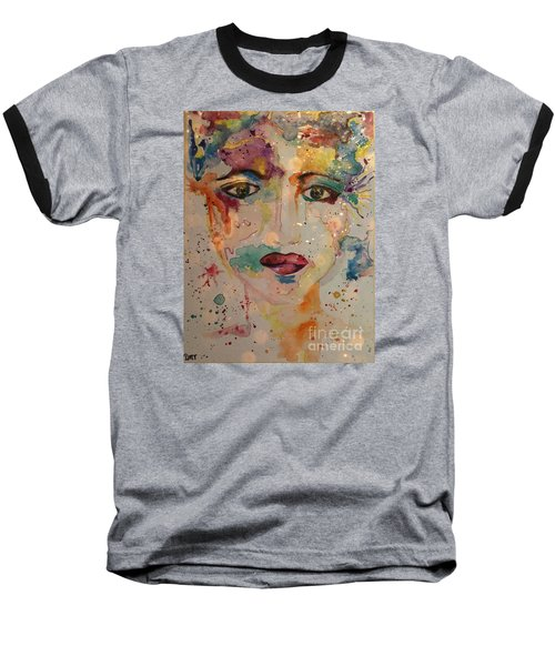 Baseball T-Shirt featuring the painting Minerva by Denise Tomasura