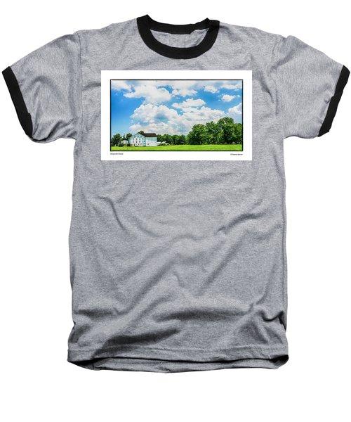 Mingoville Clouds Baseball T-Shirt by R Thomas Berner
