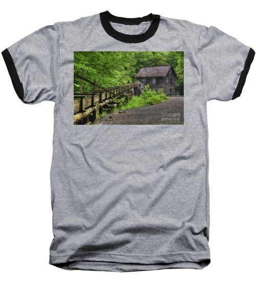 Baseball T-Shirt featuring the photograph Mingus Mill 2 Mingus Creek Great Smoky Mountains Art by Reid Callaway