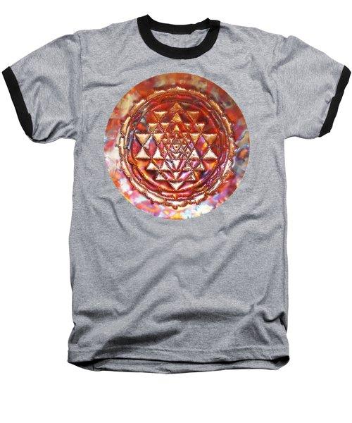 Mini Sri Yantra Kupfer Lichtmandala  Baseball T-Shirt