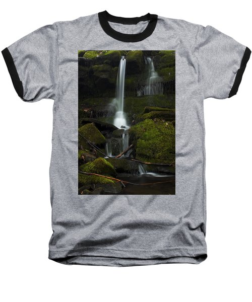 Mini Waterfall In The Forest Baseball T-Shirt