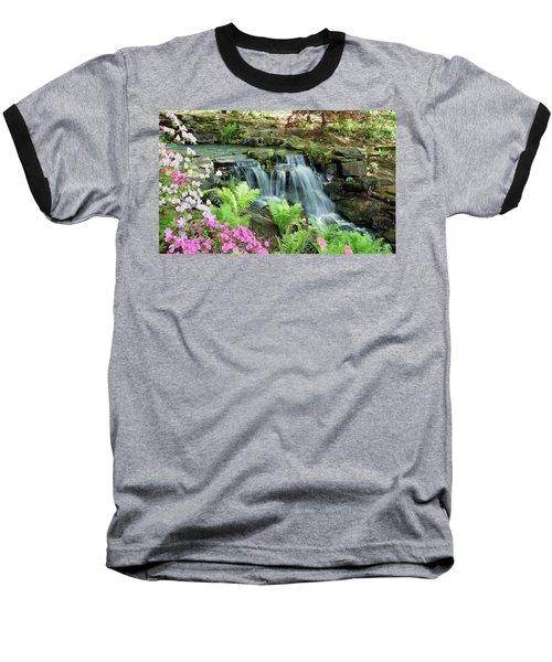 Mini Waterfall Baseball T-Shirt by Sandy Keeton