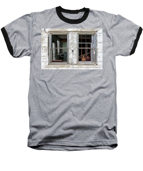 Baseball T-Shirt featuring the photograph Minimum Security by Christopher McKenzie