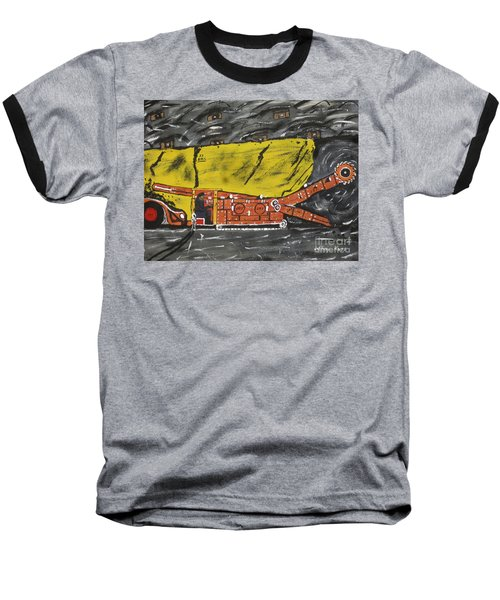 Coal Mining  Baseball T-Shirt by Jeffrey Koss