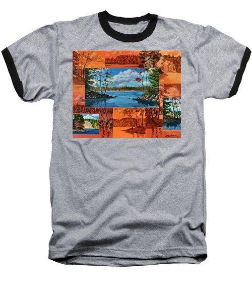 Mink Lake Looking North West Baseball T-Shirt