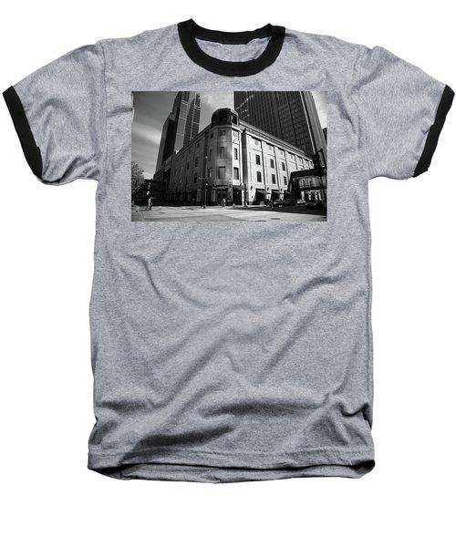 Baseball T-Shirt featuring the photograph Minneapolis Downtown Bw by Frank Romeo