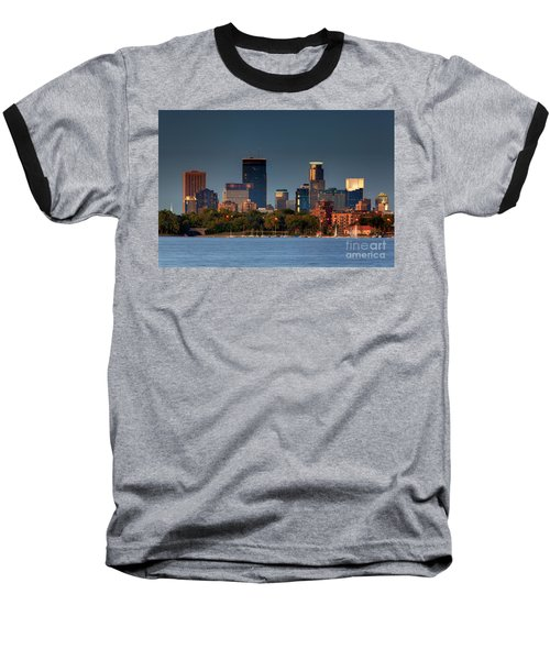 Minneapolis Skyline Photography Lake Calhoun Summer Evening Baseball T-Shirt