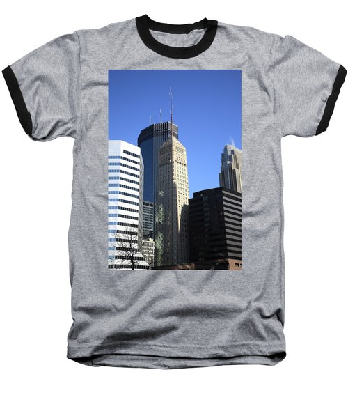 Baseball T-Shirt featuring the photograph Minneapolis Skyscrapers 12 by Frank Romeo