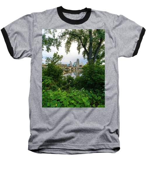 Minneapolis Through The Trees Baseball T-Shirt
