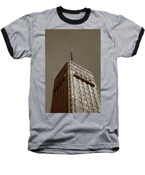 Baseball T-Shirt featuring the photograph Minneapolis Tower 6 Sepia by Frank Romeo