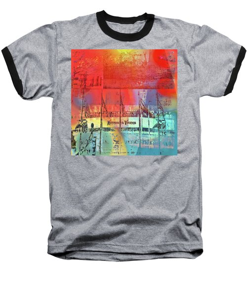 Baseball T-Shirt featuring the photograph Minnesota Vikings Art by Susan Stone