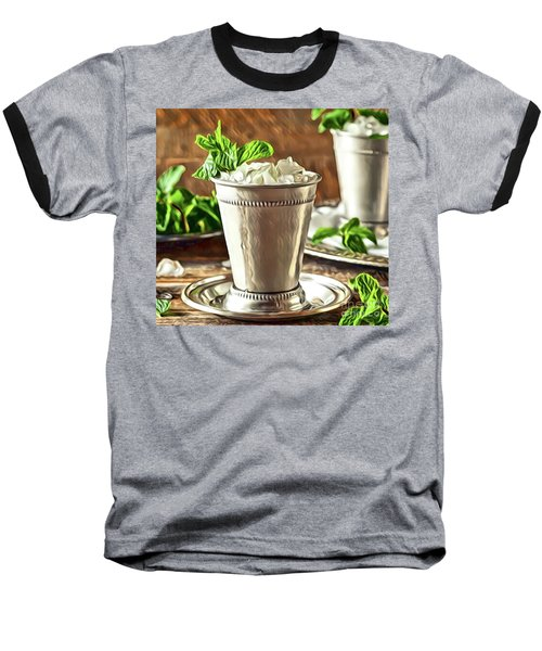 Mint Julep Double Baseball T-Shirt