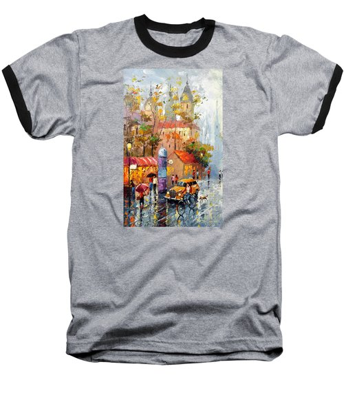 Minutes Of Waiting 2  Baseball T-Shirt by Dmitry Spiros