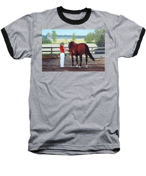 Baseball T-Shirt featuring the painting Mirage Of Wassini by Kenneth  Kirsch